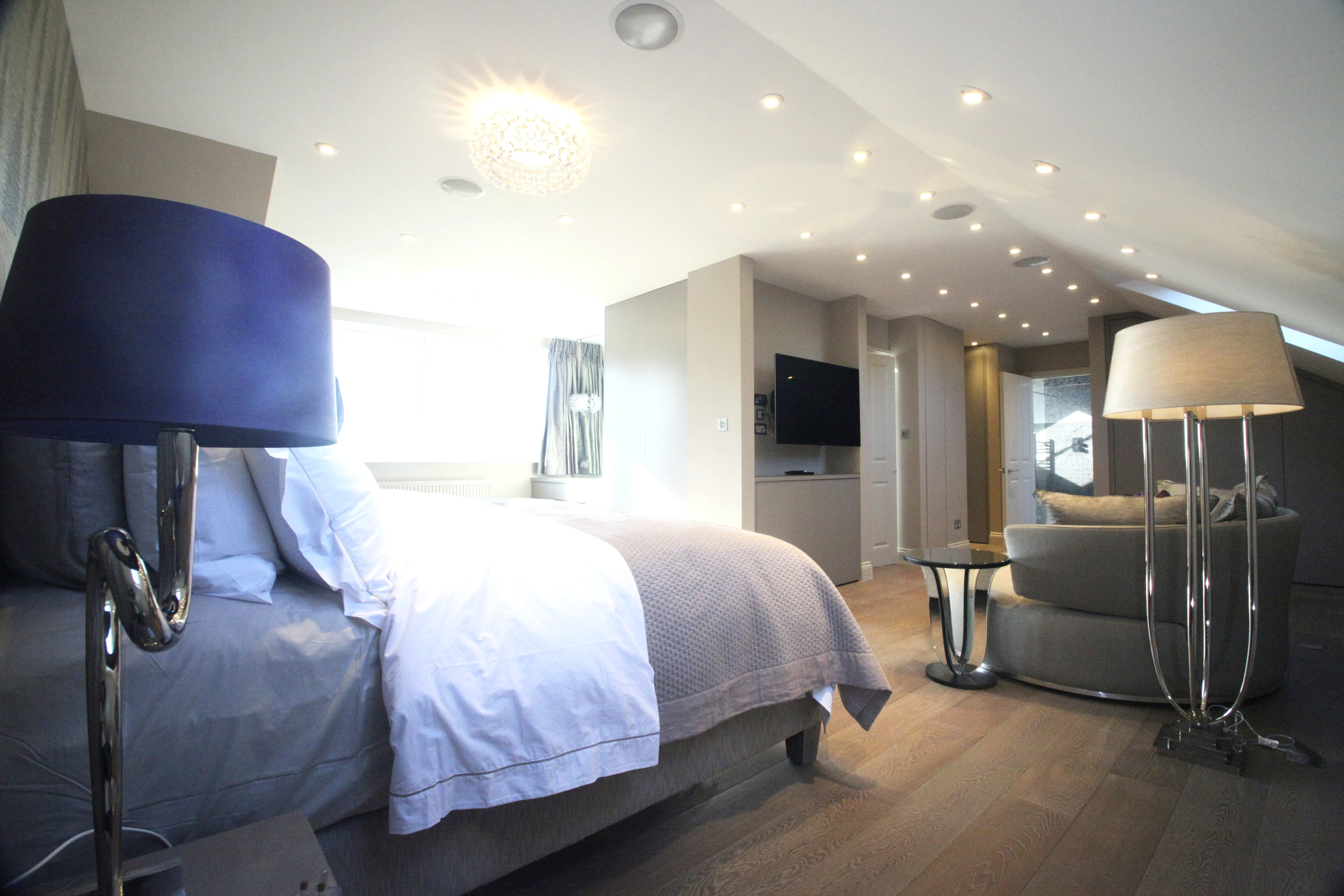 An image of a Loft Conversion. This loft has created a beautiful bedroom space